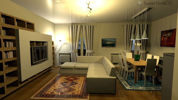 sweet home 3d 3d