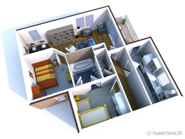 T l charger sweet home 3d pour am nager votre int rieur en 3d - Construir casas en 3d ...