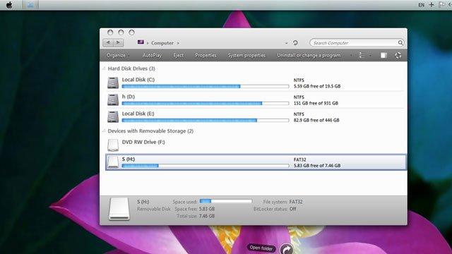 Thème MAC OSX LION pour Windows 7