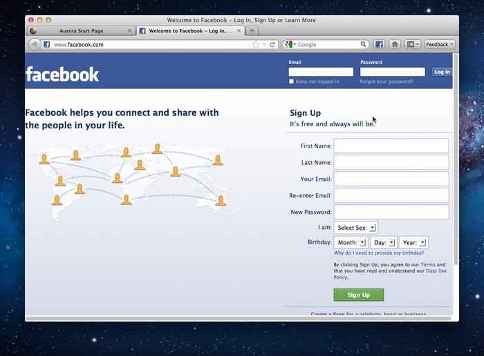 Facebook Toolbar Button
